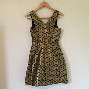 J. Crew Factory Dresses - Gold Dot Jacquard Dress